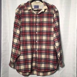Pendleton Lodge Shirt VTG Plaid Wool Button Down